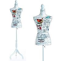 HomCom® Maniquí Femenino de Costura Busto de Señora