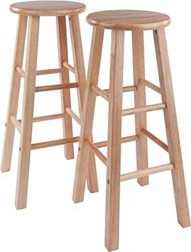 Winsome Element 2pc Set 29 Bar Stool, Natural Finish