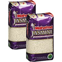 Mahatma Long Grain Rice, Jasmine, 32-Ounce Bag (Pack of 2)