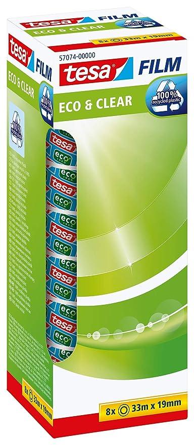 /ökologisch Office-Box mit 8 Rollen 33m x 19mm tesafilm Klebeband