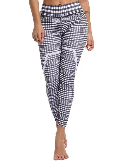 17011b01653b2 CFR Active Leggings Fashion Women s Lattice Pattern Yoga Pants Checkered  Leggings Fitness Capris at Amazon Women s Clothing store