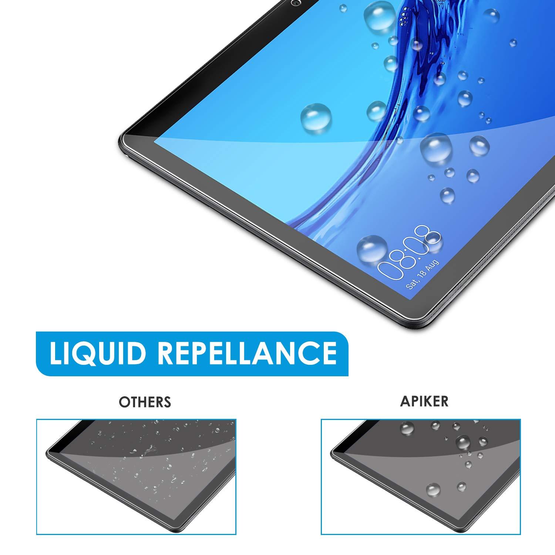 apiker Lot de 3 Verre Tremp/é Compatible pour Huawei MediaPad T5 10 10.1 Pouce 2018 Durabilit/é Exceptionnelle Protection /écran pour Huawei MediaPad T5 10 10.1 Pouce 2018