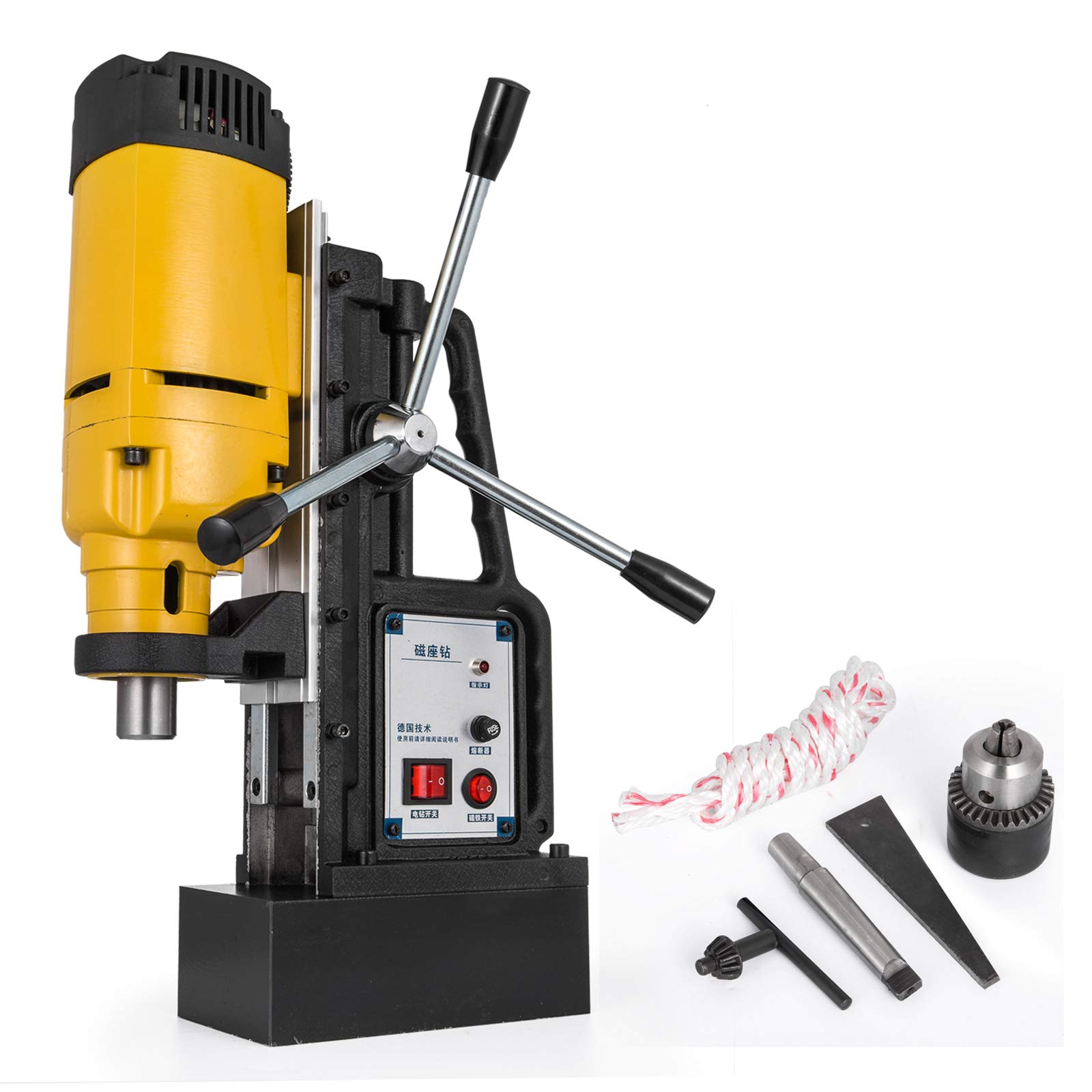 Mophorn 1200W Magnetic Drill Press with 0.9 Inch (23mm) Boring Diameter Magnetic Drill Press Machine 2920 Lbs Magnetic Force Magnetic Drilling System 500RPM Portable Electric Magnetic Drill Press
