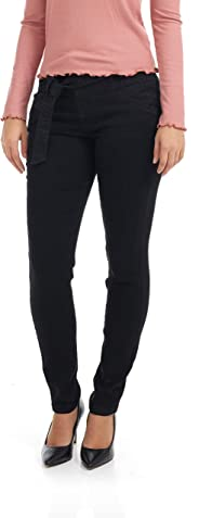 Suko Jeans Women's High Waisted Denim Pants - Skinny Fit - with Belt