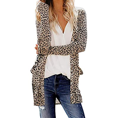 Sttech1 Womens Casual Long Sleeve Camo Print Lightweight Cardigans Snap Button Down Pocketed Open Front Outerwear Coats: Clothing