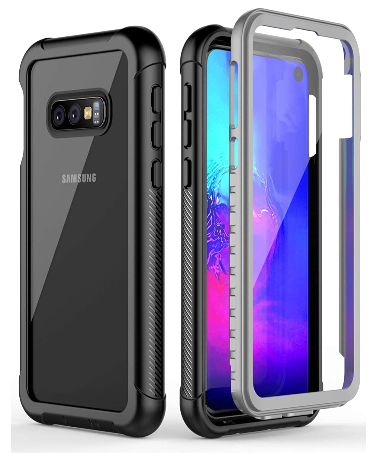 najlepsze ceny cienie szczegóły Samsung Galaxy S10E Case, ATOP Full Body Rugged Armor Cover Case with  Built-in Screen Protector Support Wireless Charging Crystal Clear Case for  ...
