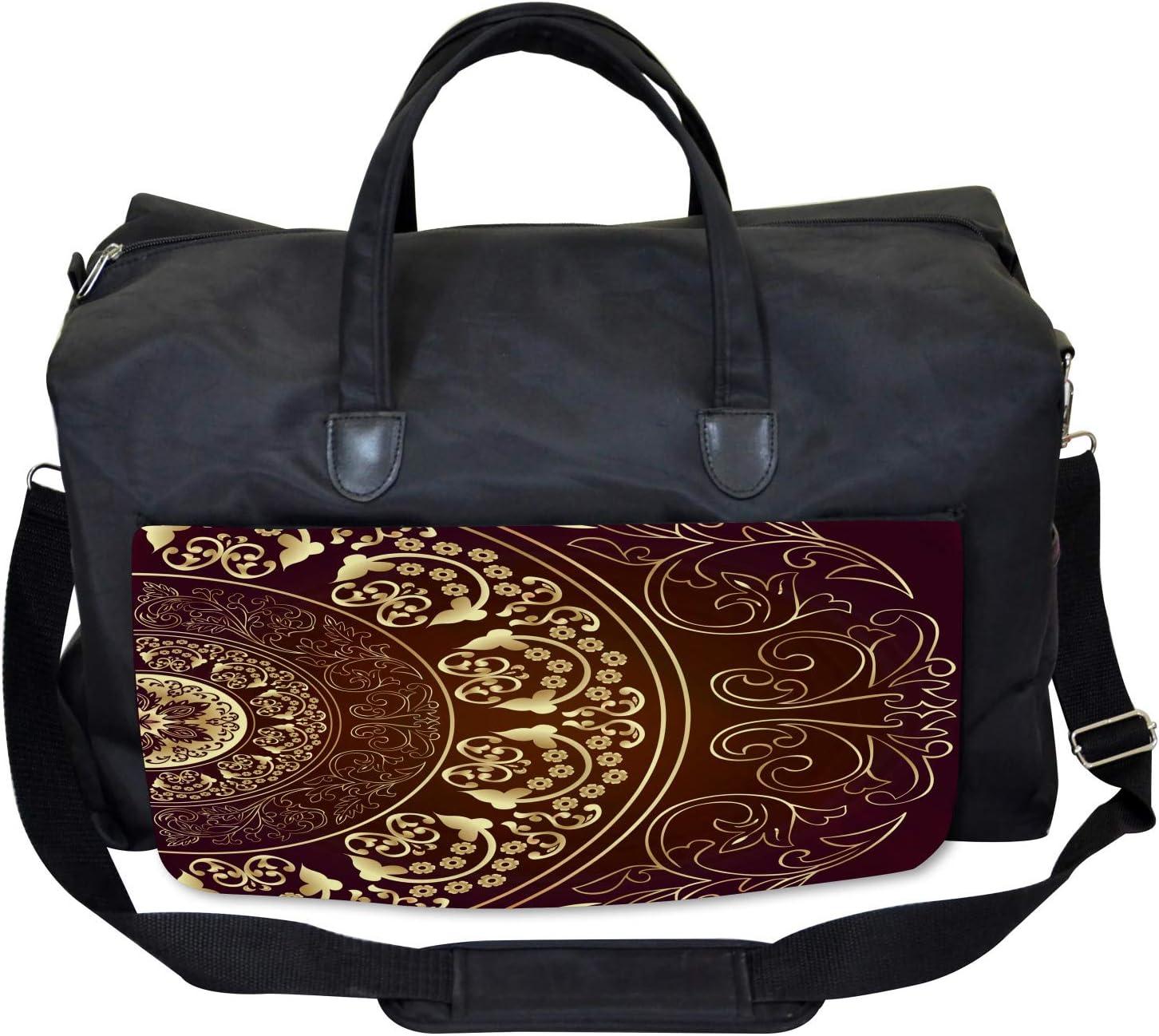 Ambesonne Mandala Gym Bag Vintage Ethnic Asian Large Weekender Carry-on