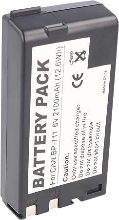 Accucell Battery For Canon Bp 711 Bp 714 Bp 726 2100 Elektronik