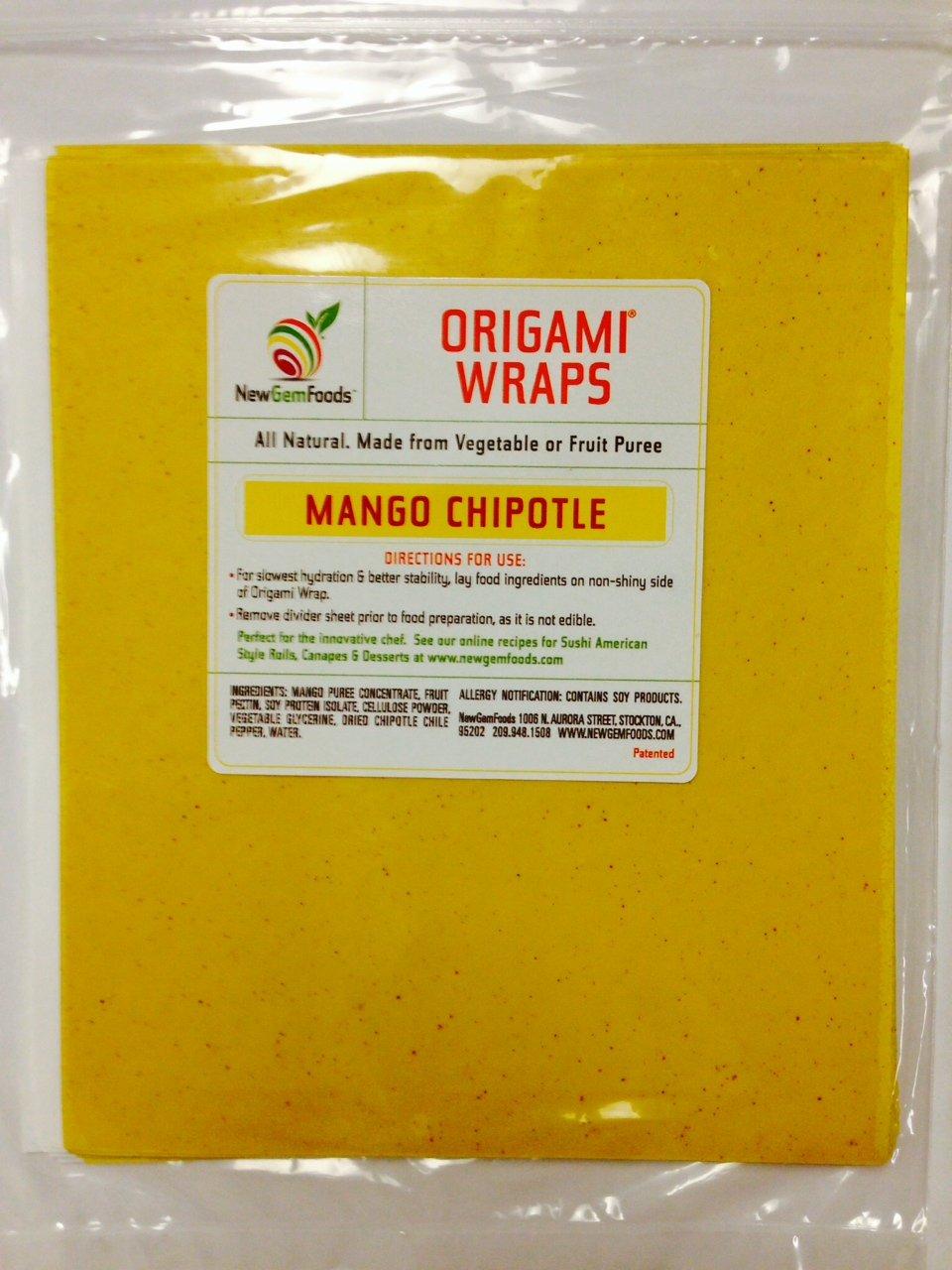 Mango Chipotle Origami Sushi Wraps