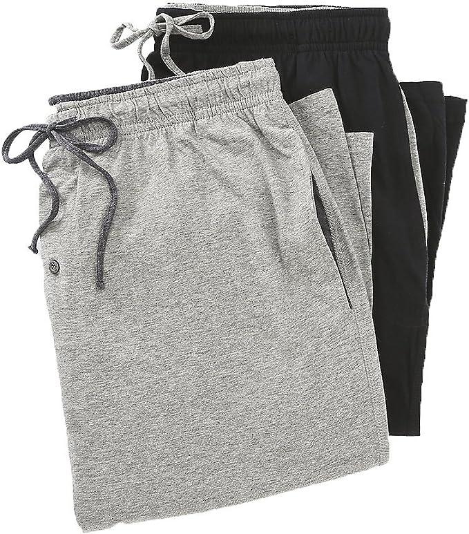 Black Large Hanes Mens Solid Knit Sleep Pant