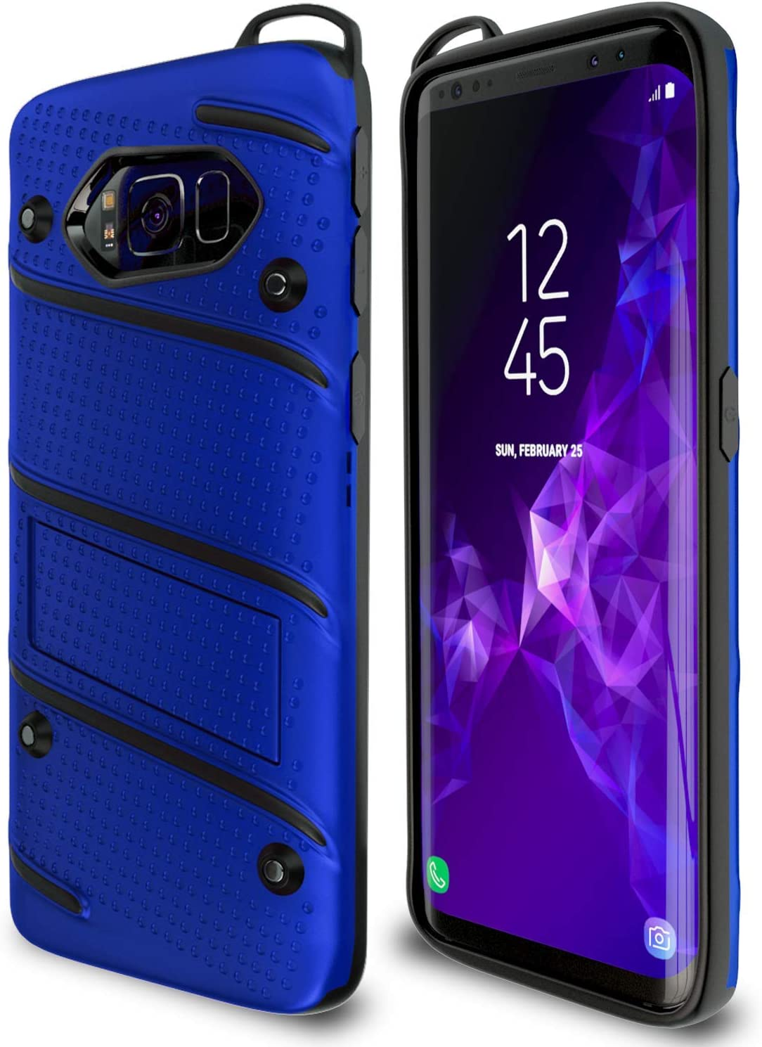 Samsung Galaxy S8 Case | Military Grade | 15ft. Drop Tested | Protective Case | Kickstand | Shockproof | Wireless Charging | Dual Layer Heavy Duty | Compatible with Samsung Galaxy S8 - Blue