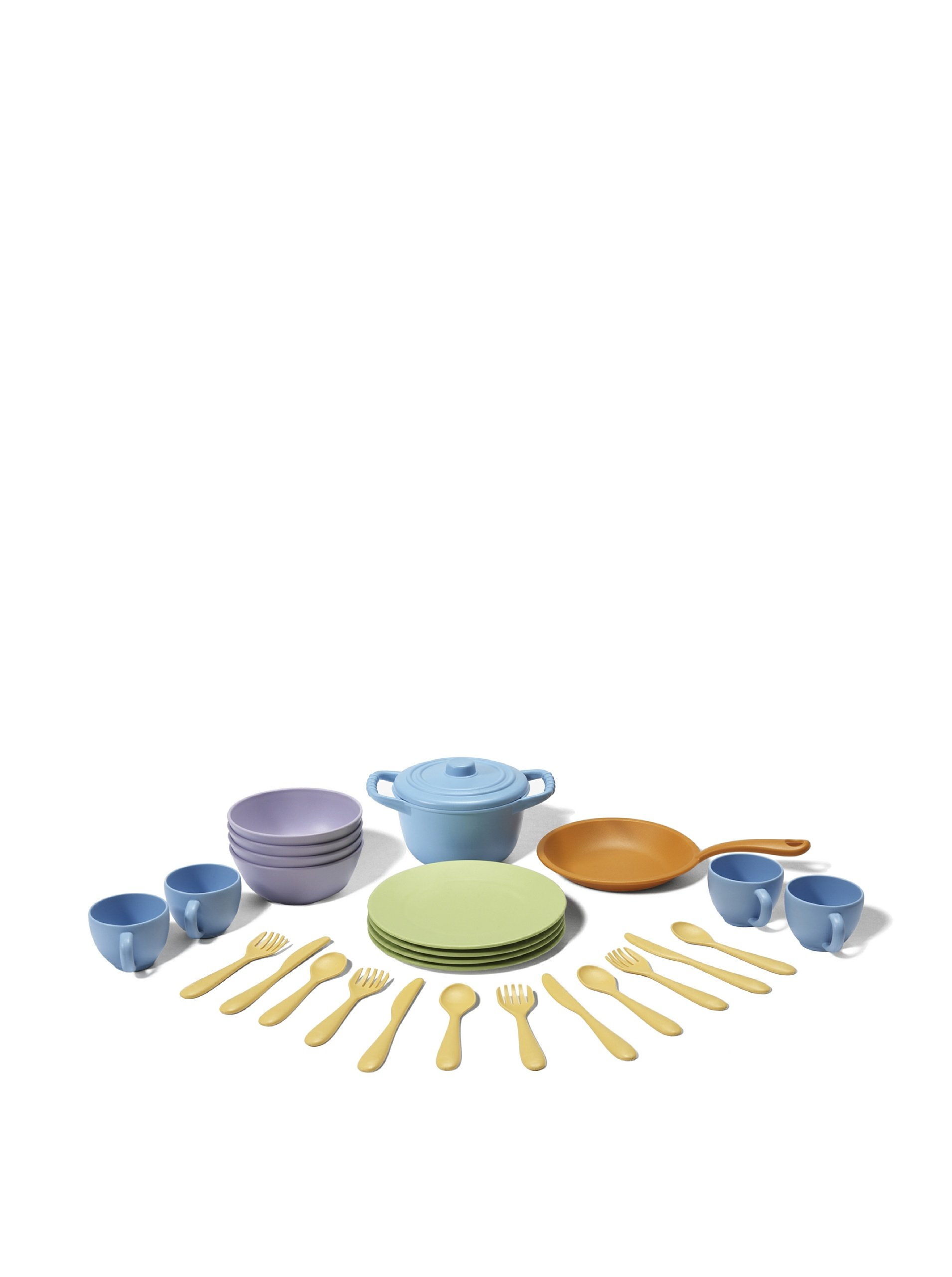Green Toys Cookware and Dining Set, Multicoloured