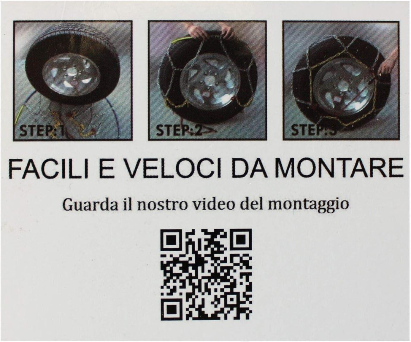 Kawin Catene da Neve OMOLOGATE 235 65 18 V5117 16mm 235//65-18 R17 SUV 4x4