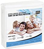 Premium Hypoallergenic Waterproof Mattress Protector (Twin-XL) - Vinyl Free - Fitted Mattress Cover by Utopia Bedding