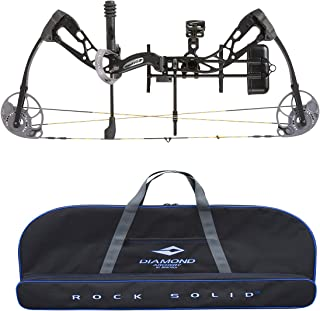 product image for Diamond Edge SB-1 Compound Bow, Black, RAK Package, Right Hand, 7-70lbs, with Diamond Soft Bow Case