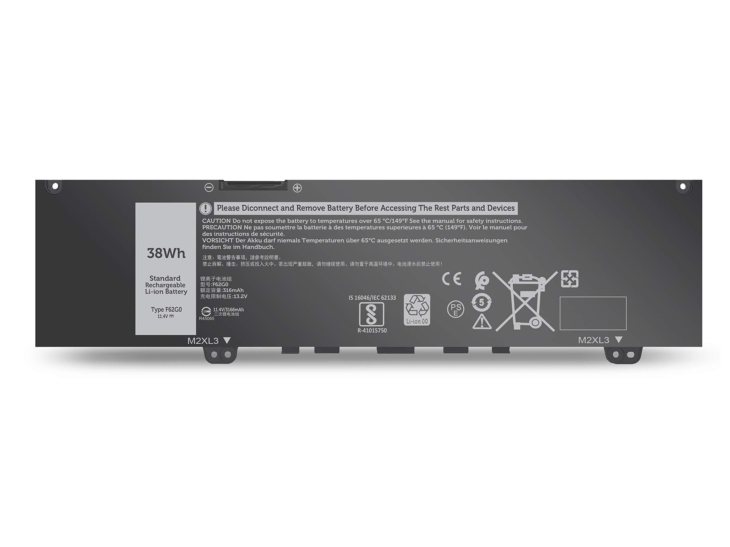 Bateria F62G0 Dell Inspiron 13 5370 7370 7373 7380 7386 Vost