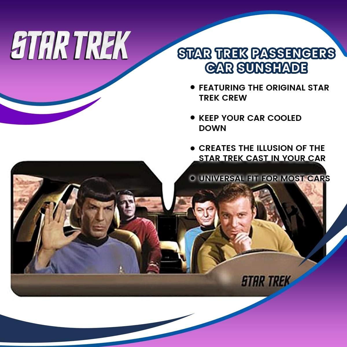 Star Trek Passengers Car Sunshade