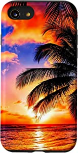 iPhone SE (2020) / 7 / 8 Sunset Beach Palm Tree Case