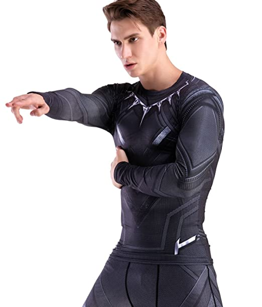 b5bfed3129c Red Plume Men s Compression Sports Shirt Panthers Running Long Sleeve Tee 3  Colors (M. Roll over image to ...