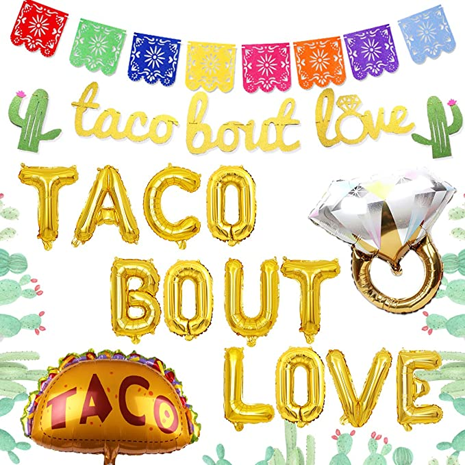 ASSEMBLED Taco Bout a Party Tassel Garland-Fiesta Banner-Taco Tuesday-Taco Twosday-Fiesta Party-Taco Bout Cute-Bachelorette-llama Party