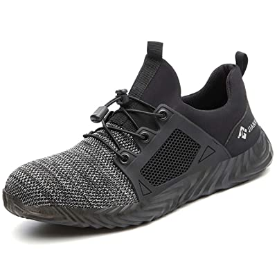 Anyo Steel Toe Safety Shoes for Men,Indestructible Work Shoes for Women Industrial Construction oakbay Shoes: Shoes