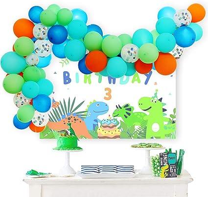 10pcs 12 inch kids green dinosaur balloon confetti ballons birthday partA!
