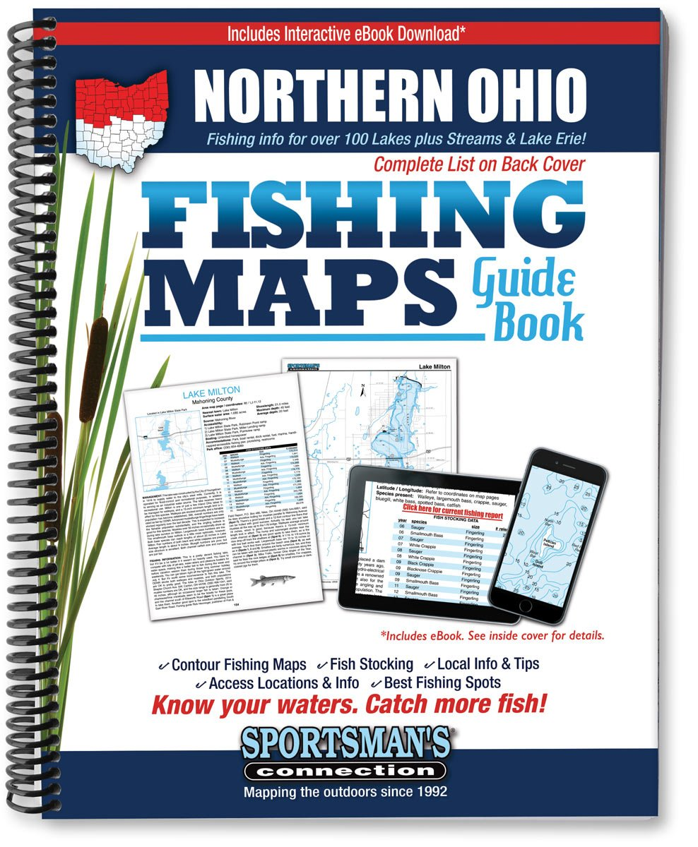 Lake Milton Ohio Map.Northern Ohio Fishing Map Guide Sportsman S Connection Jim Billig