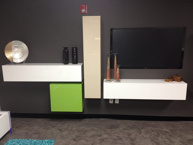 Hänge-Element 1-türig Box, 139 x 29 x 31 cm, weiß hochglanz ...