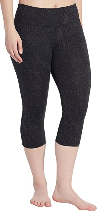a80d25485c58c Amazon.com: CALIA by Carrie Underwood Women's Energize Printed Crop Tights  (S, Sea Fan): Clothing