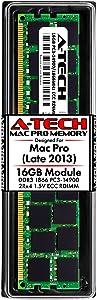 A-Tech 16GB ECC RDIMM Memory for Apple Mac Pro Late 2013 (MacPro6,1) | DDR3 1866 MHz ECC Registered DIMM PC3-14900 Dual Rank 2Rx4 1.5V 240 Pin RAM Upgrade Module
