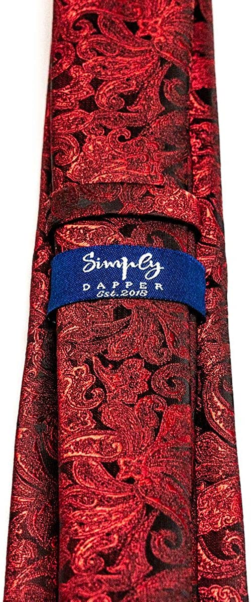 Modern Cut Mens Royal Leaf Pattern Tie and Pocket Square