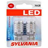 SYLVANIA 7443 T20 Red LED Bulb, (Contains 2 Bulbs)
