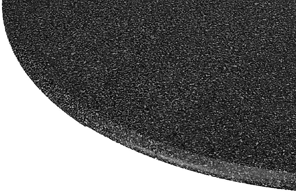 LCM Table Cloth Round 36'' to 48'' Elastic Edge Fitted Vinyl Table Cover Black Granite Satin Finish by LCM