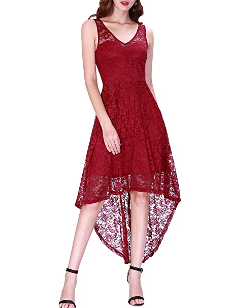 b58607453d5b Ever Pretty Women s Fashion High Low Floral Lace Evening Prom Party  Cocktail Dresses 03063  Amazon.co.uk  Clothing