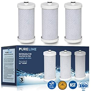 Frigidaire NGRG2000, WF1CB, Compatible Refrigerator Replacement Water Filter, Also Compatible With RF100, RG100, RF-100, RG-100, NGRG-2000 and Kenmore 9910, 469910, 46-9910 By Pure Line (3-Pack)