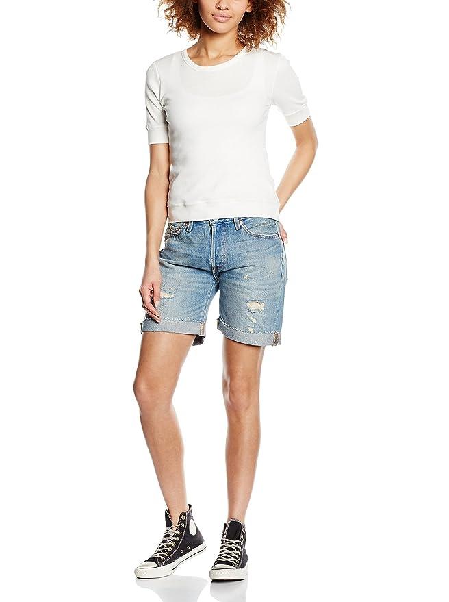Levis - Short femme 501 ALAMO BLUE destroy  Amazon.fr  Vêtements et  accessoires f28a6ae1cbe