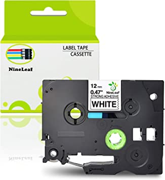 1PK TZeS231 TZS231 Black On White Label Tape Cassette For Brother P-Touch 12mm