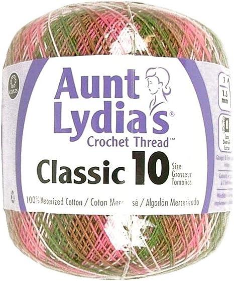 3Pk Coats Crochet Aunt Lydia/'s Classic Crochet Thread Size 10-Pastels