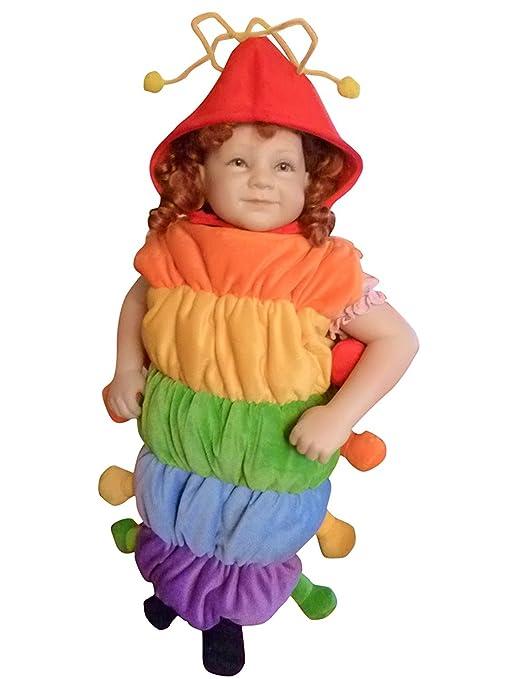 F83 Taglia 2-3A (92-98cm) Costume da Bruco per bambini e neonati ... 21842b95124