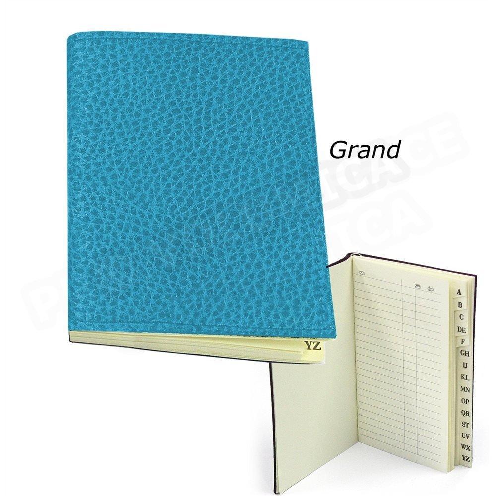 Directorio de direcciones 12,5 16,5 x 12,5 direcciones piel Azul-turquoise Beaubourg 631438
