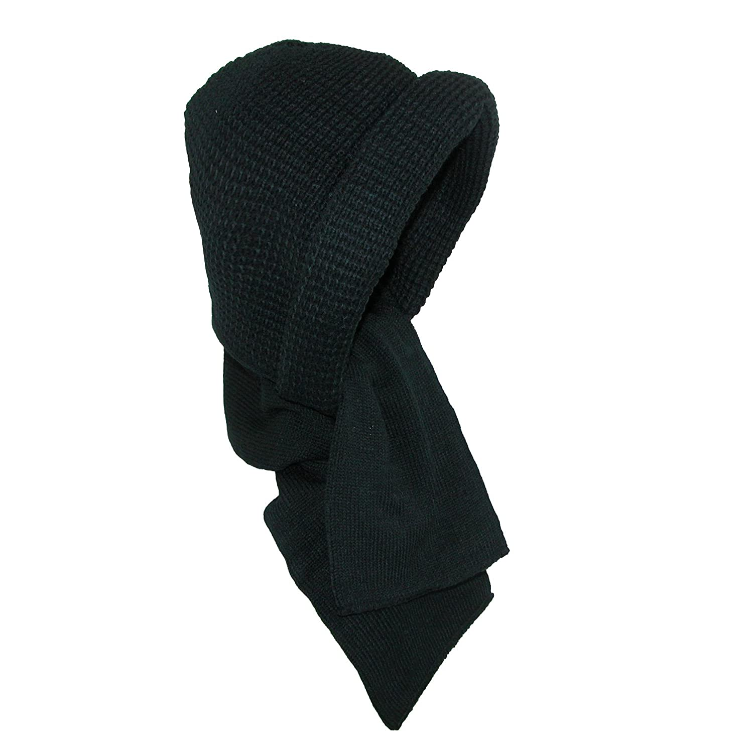 CTM Kid's 4-14 Hooded Scarf Black RG-KH1143-BLK