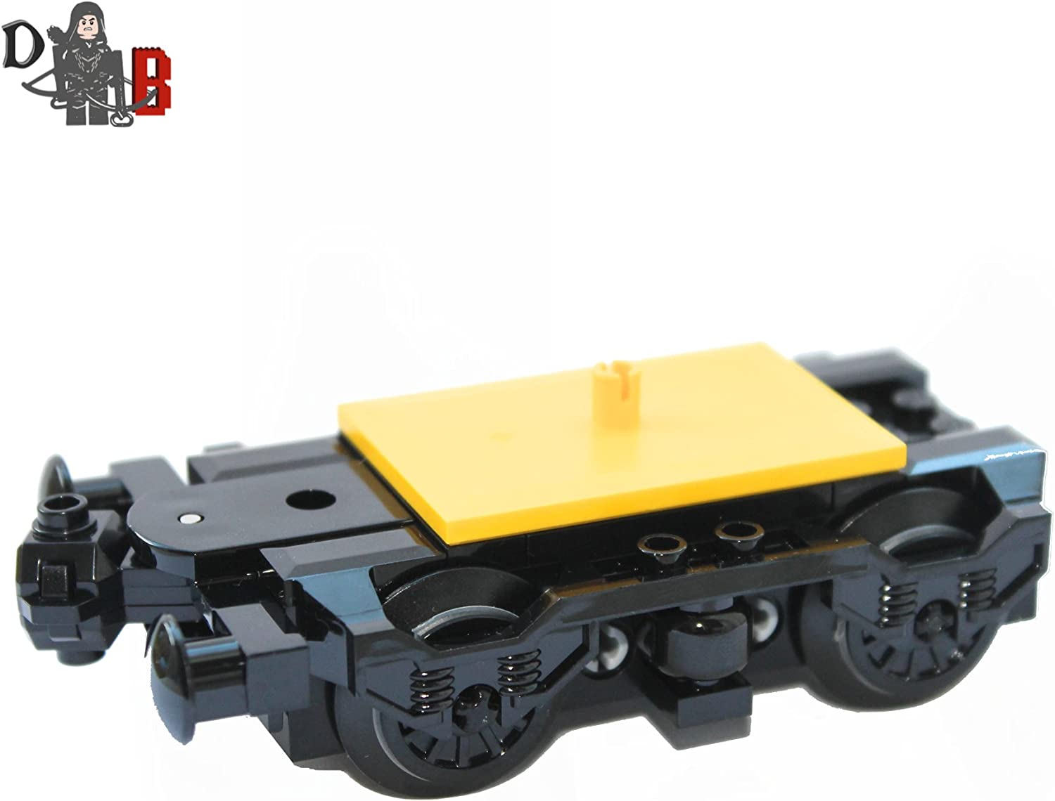 LEGO Custom City Train Bogie Buffer with Wheels for Carriages and locomotives.
