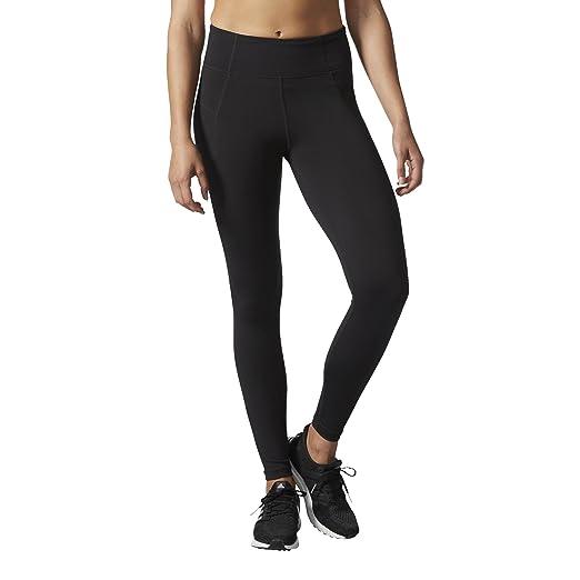 eea8fcb0664a90 adidas Women's Training Performer High Rise Long Tights, Black/Black, Small