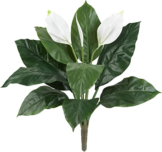 Amazon Com Nearly Natural 24 Spathiphyllum Set Of 3 Artificial Plant Green Home Kitchen