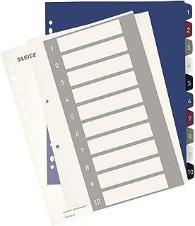Leitz Índice numerado, Formato A4 Maxi, Índice imprimible desde el ordenador, Polipropileno, Formato Maxi, Gris…