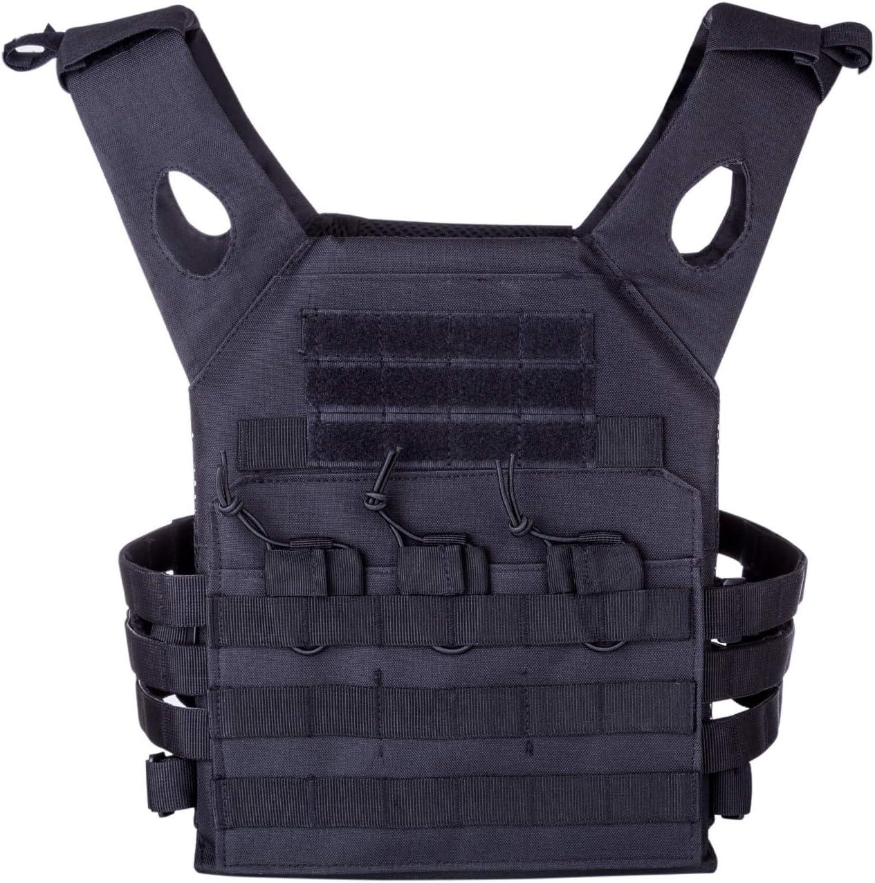 Tactical Vest 800D Lightweight Breathable Adjustable Training Vest ...