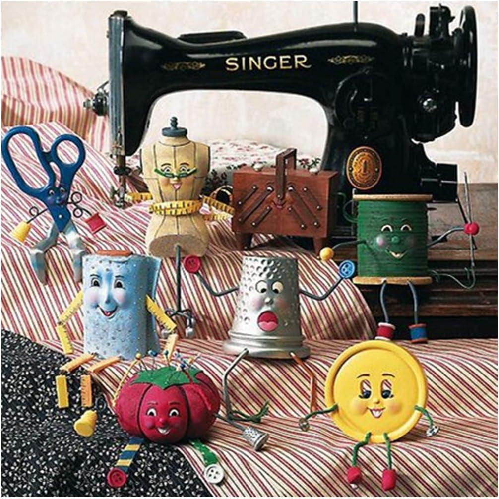 Kit de punto de cruz bordado para máquina de coser DIY 5D con ...