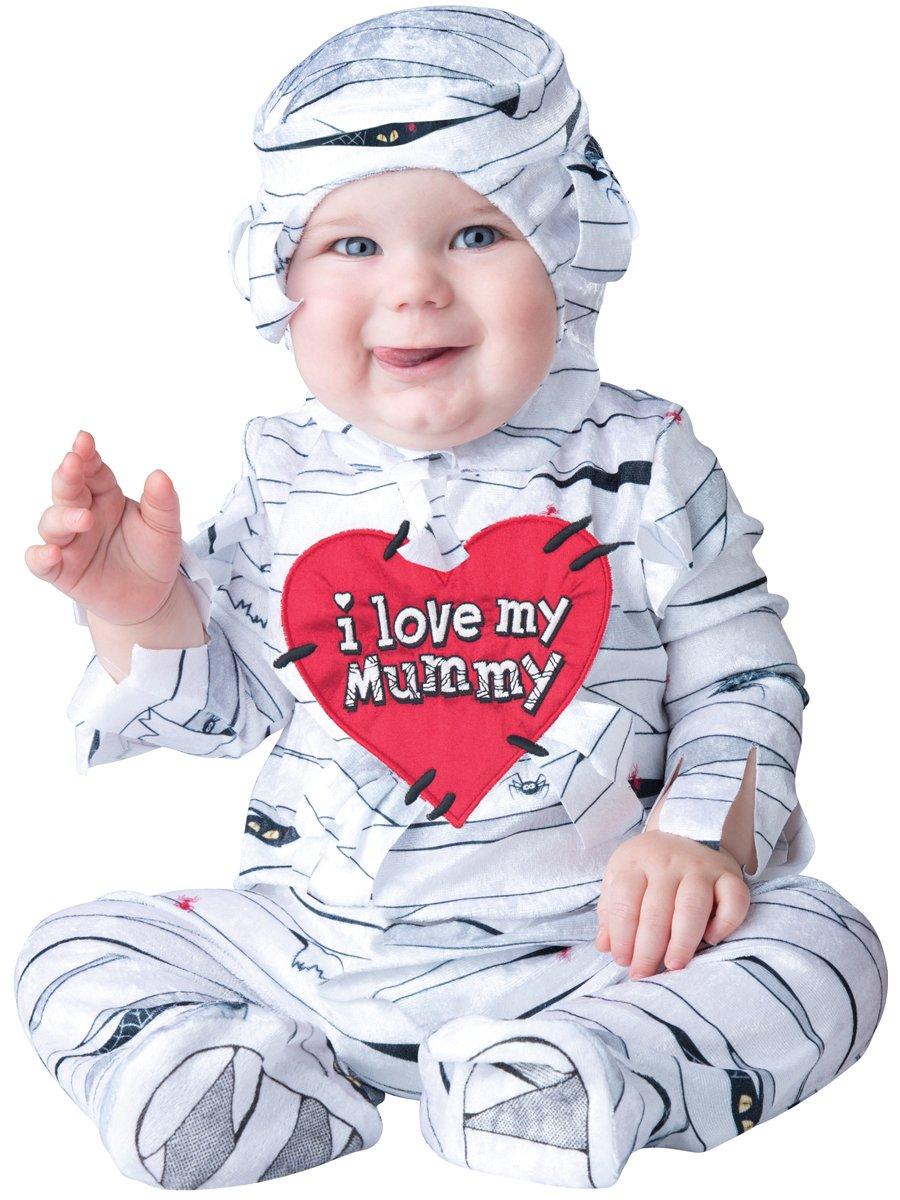 InCharacter Costumes Baby's I Love My Mummy Costume, White, Medium