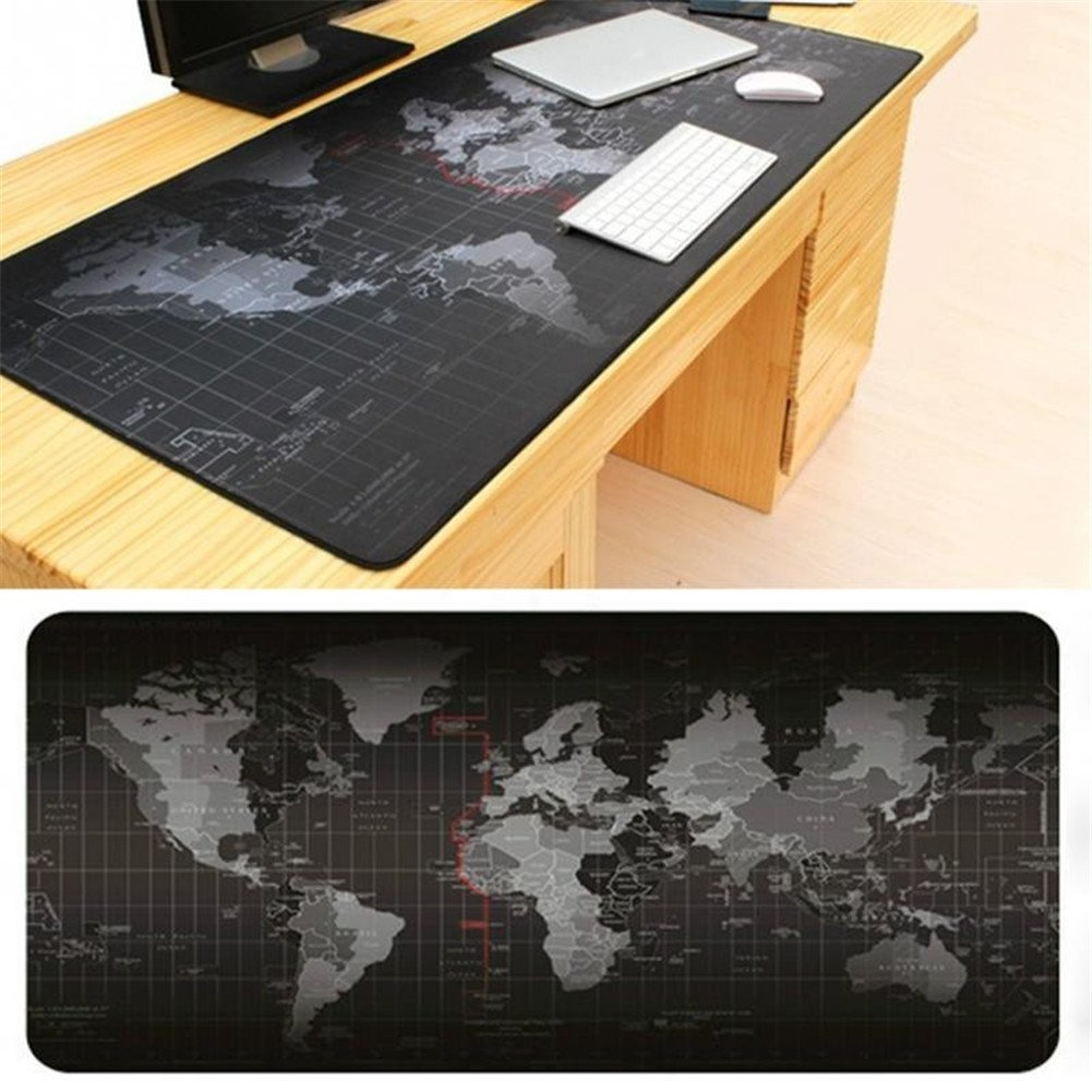 GS Large Size Mouse Pad 900x400x2mm World Map Speed Game Keyboard Mouse Pad Mat Non-slip Laptop Gaming Mousepad Table Mat