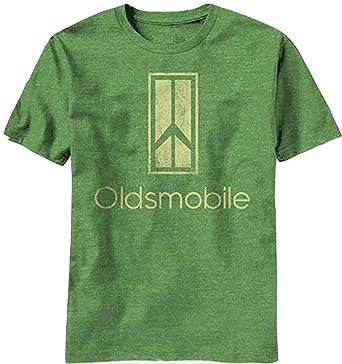 5b42d9c9 Amazon.com: Oldsmobile Logo Vintage Cars Green Men's T-Shirt Tee Classic  Car Logo Shirt Peace Sign Logo Shirts (Large): Clothing